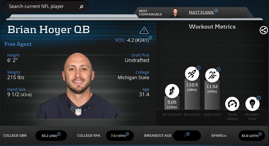 Brian Hoyer-Quarterback-Chicago Bears