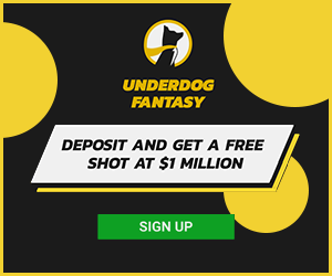 Deposit and get a free shot at $1 Million with Underdog Fantasy